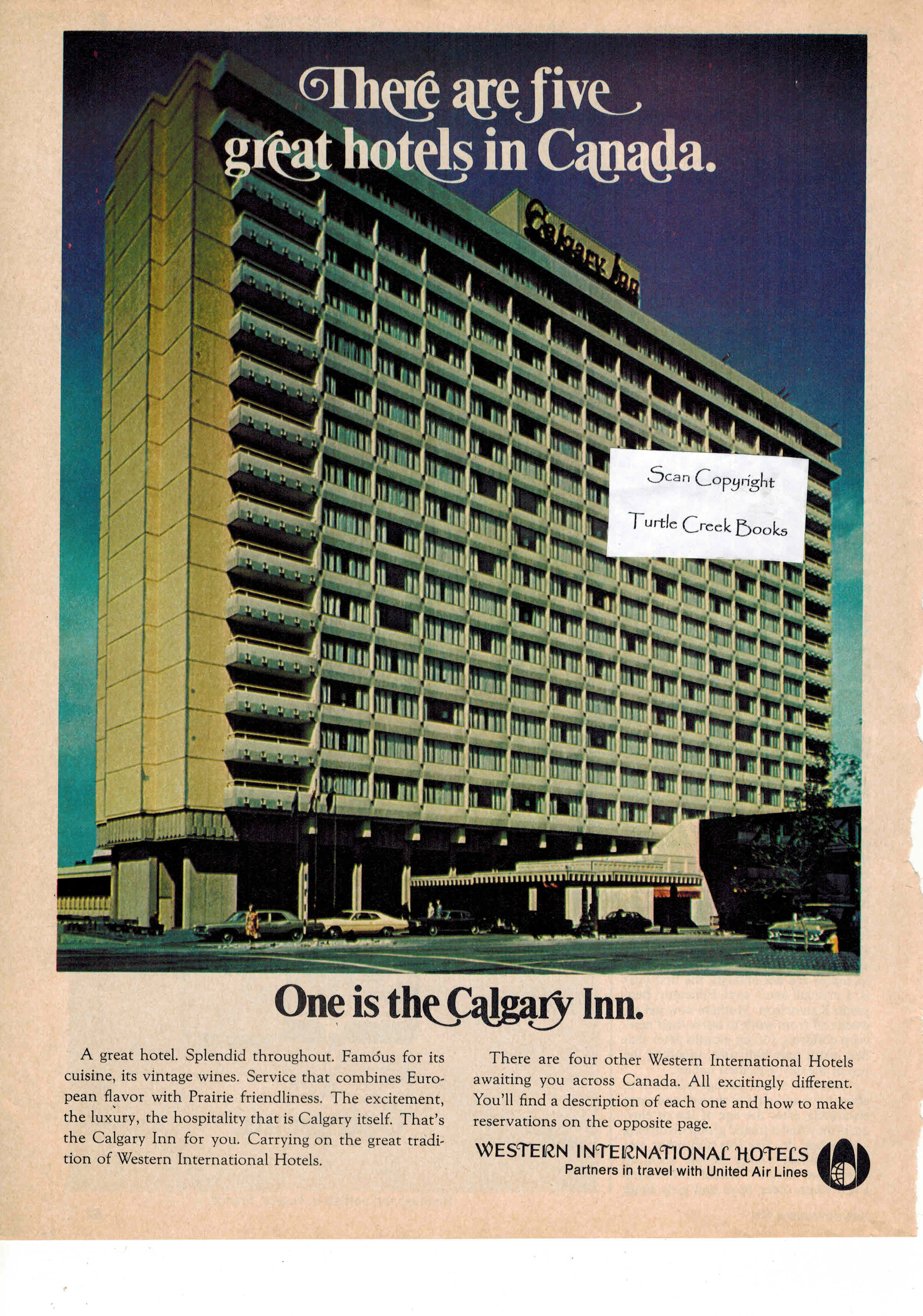 Image for Calgary Inn - Western International Hotels Ad - 1972 Vintage Advertisement