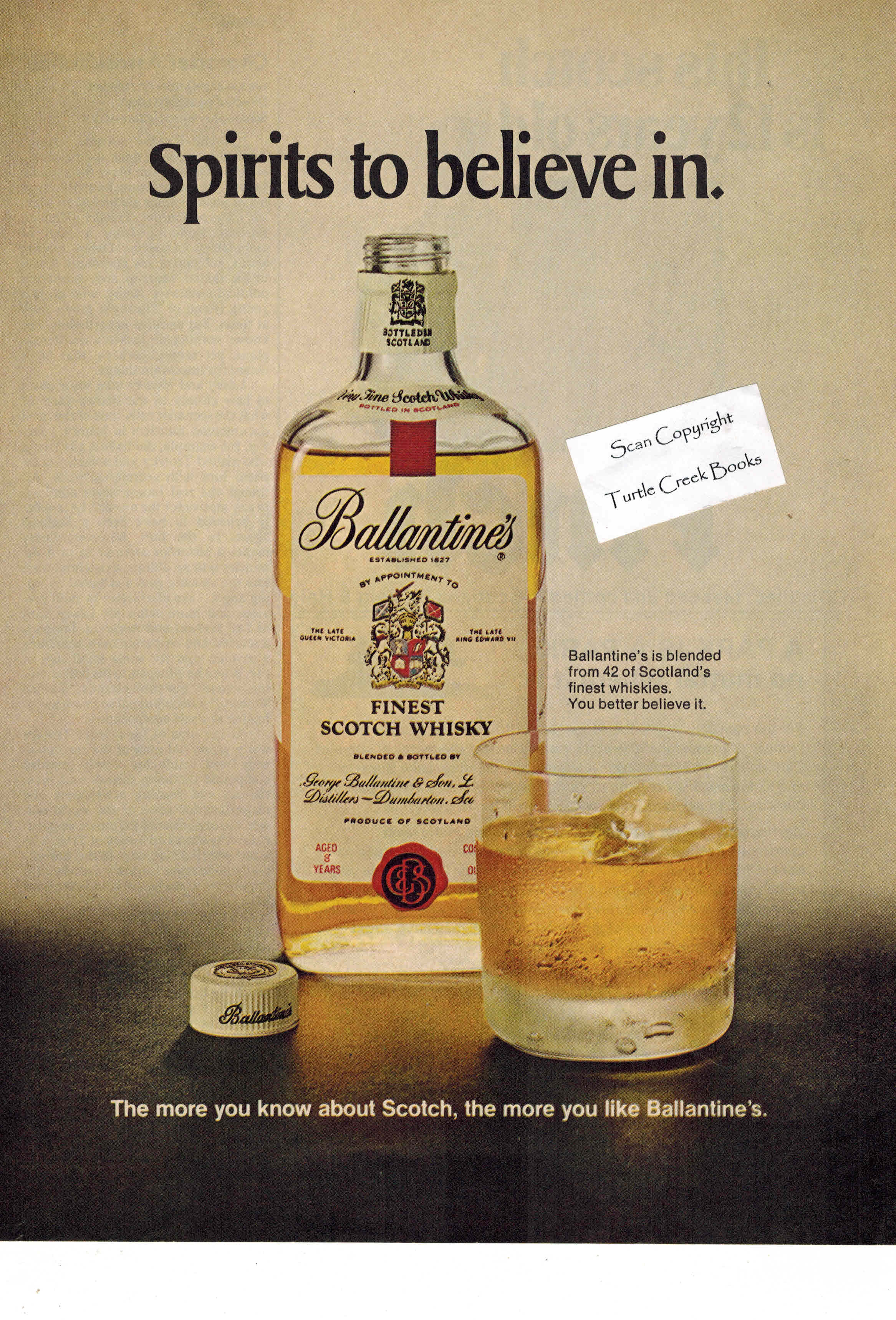 Image for Ballantine's Scotch Whiskey Ad - 1972 Vintage Advertisement