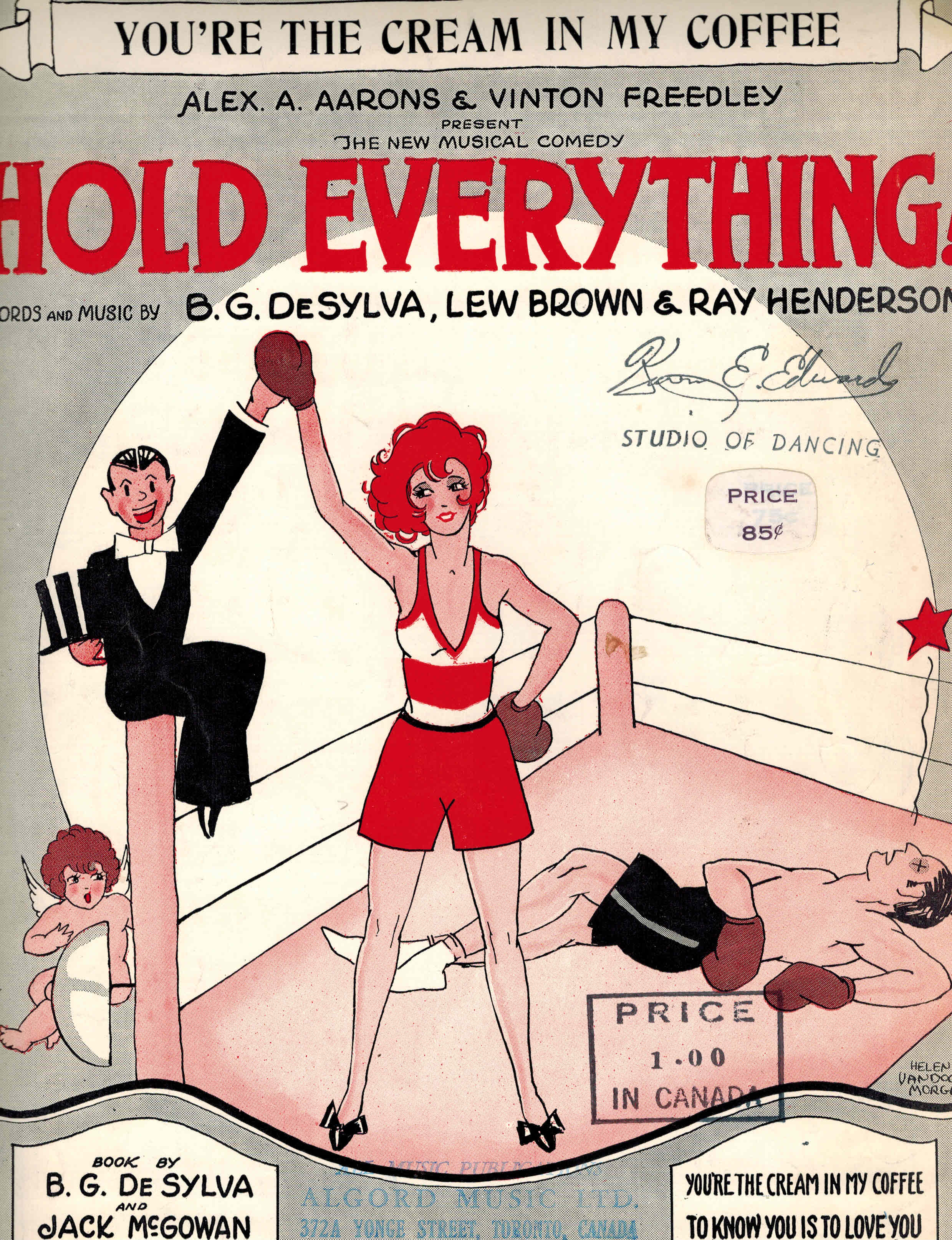 Image for You're the Cream in My Coffee - Shset Msuci from Hold Everything - Boxing Cover