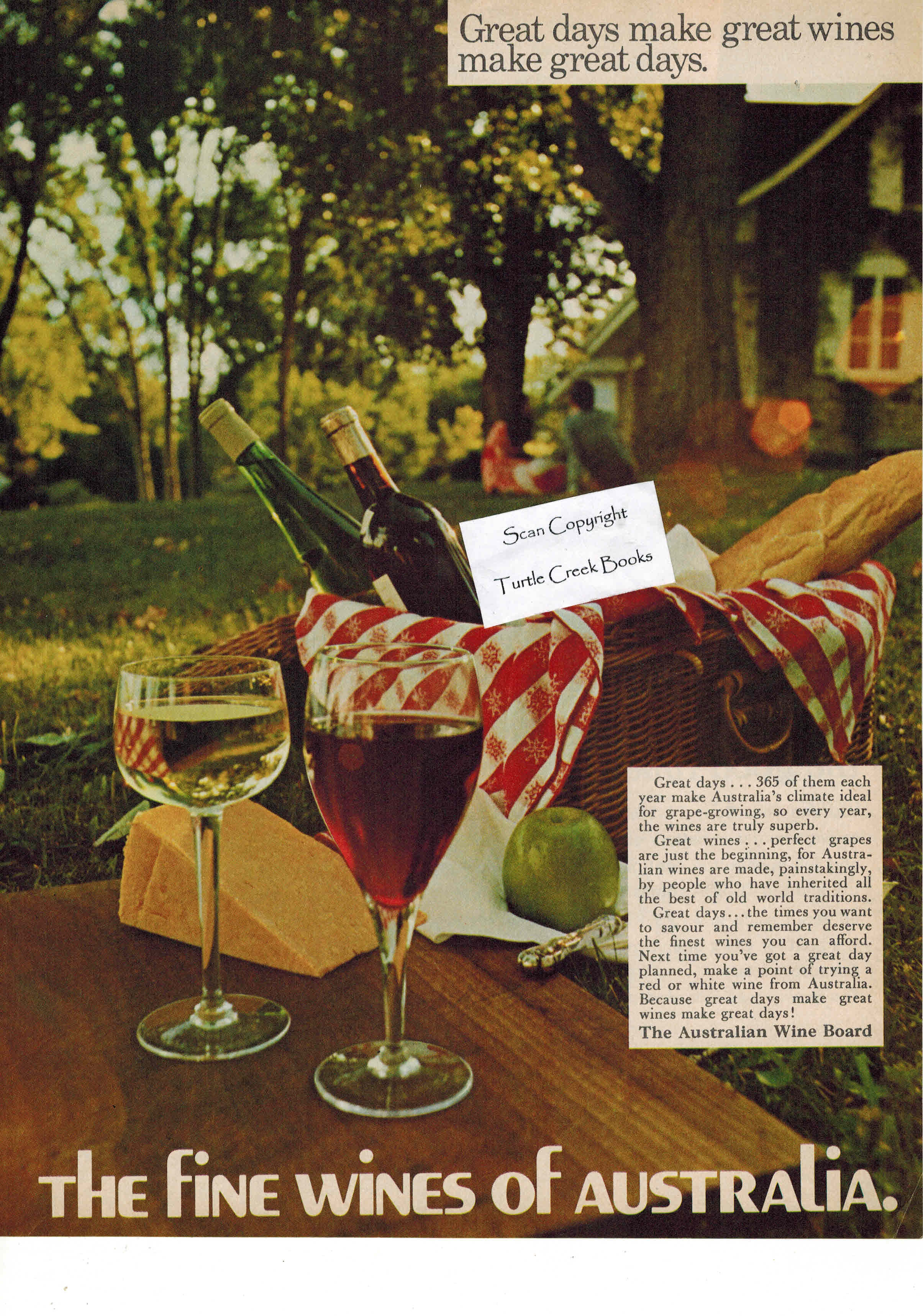 Image for The Fine Wines of Australia - Original Advertisement from 1972