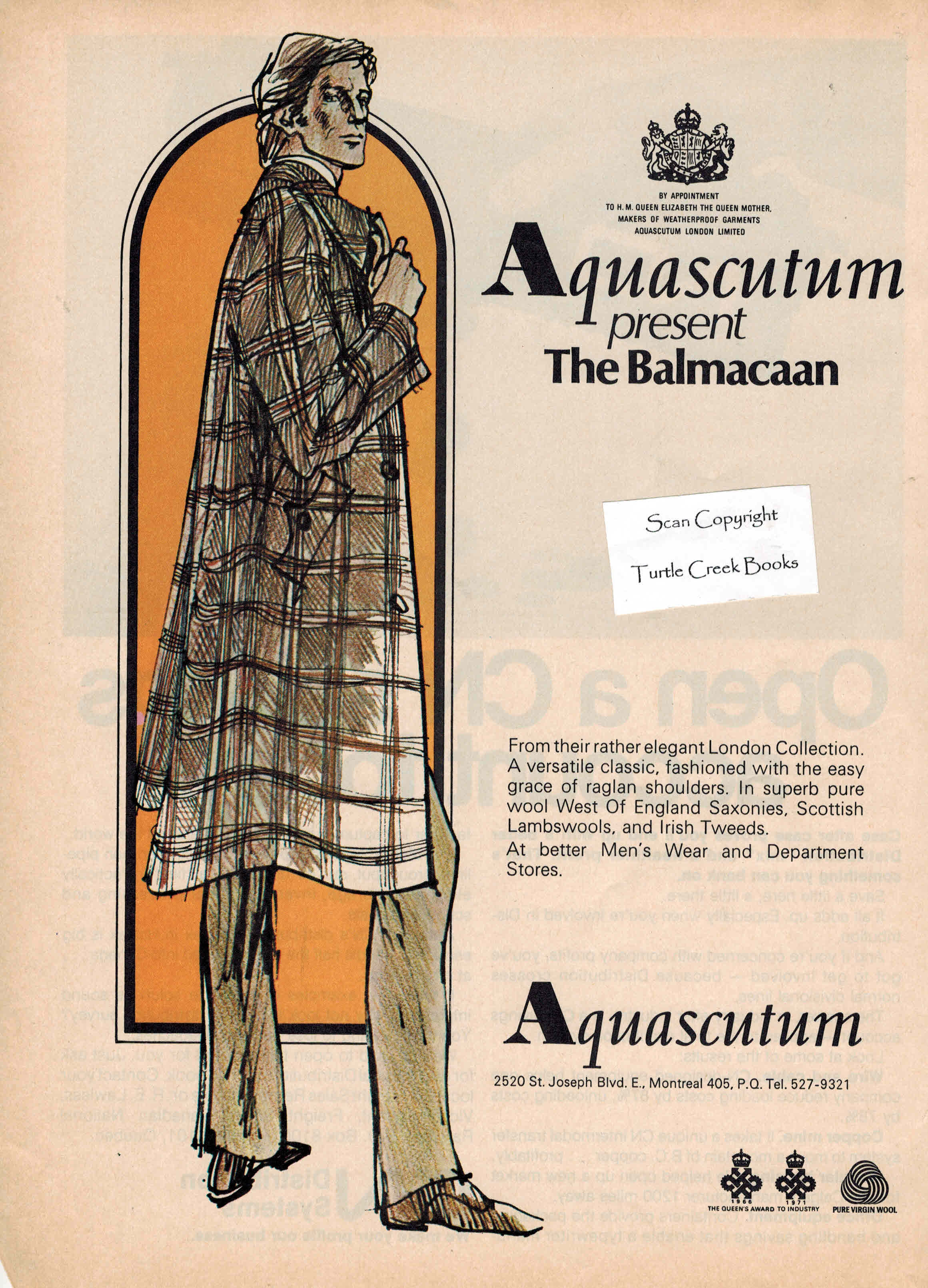 Image for Aquascutum the Balmacaan - Original Advertisement from 1972