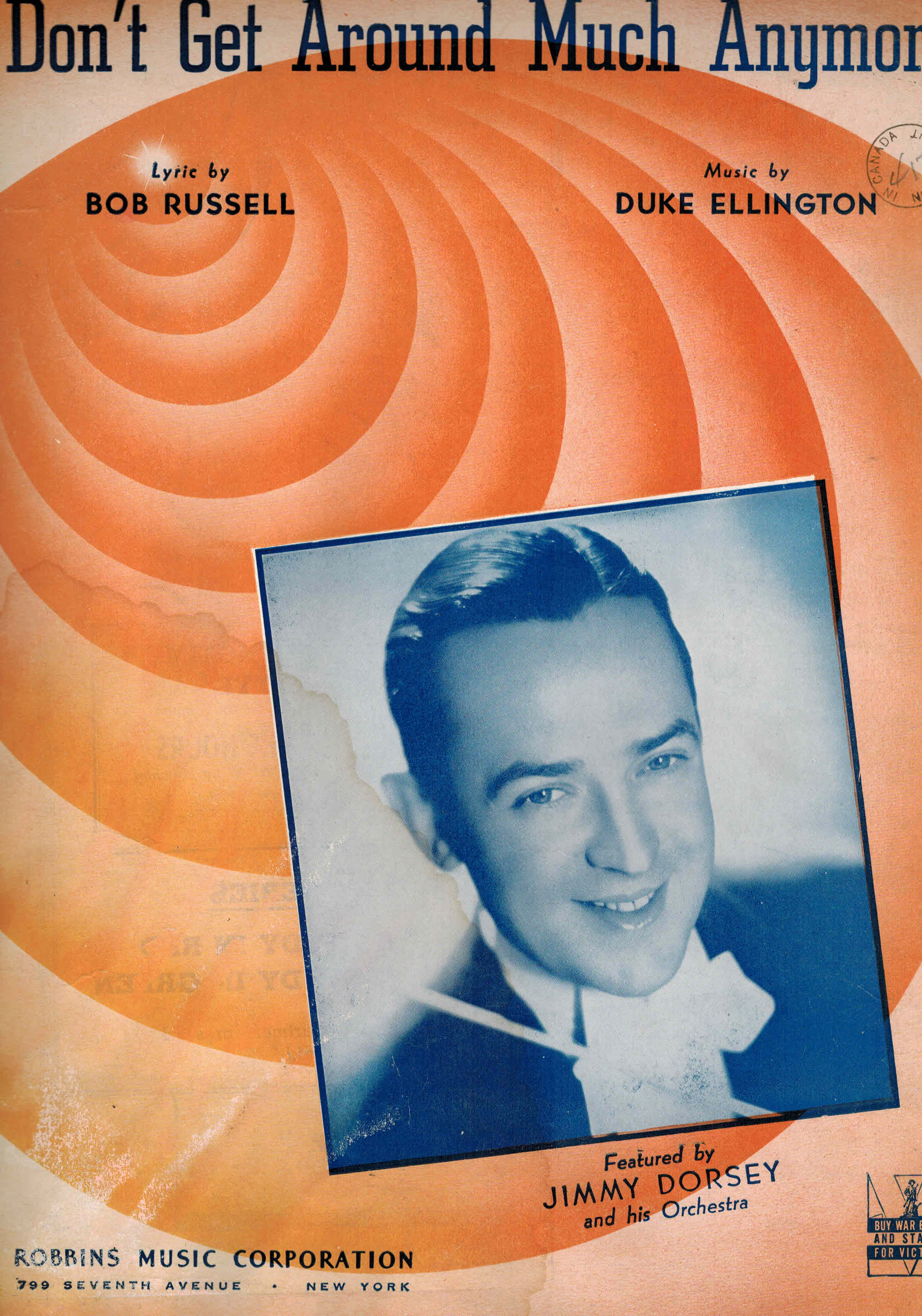 Image for Don't Get Around Much Anymore - Vintage Sheet Music Jimmy Dorsey Cover
