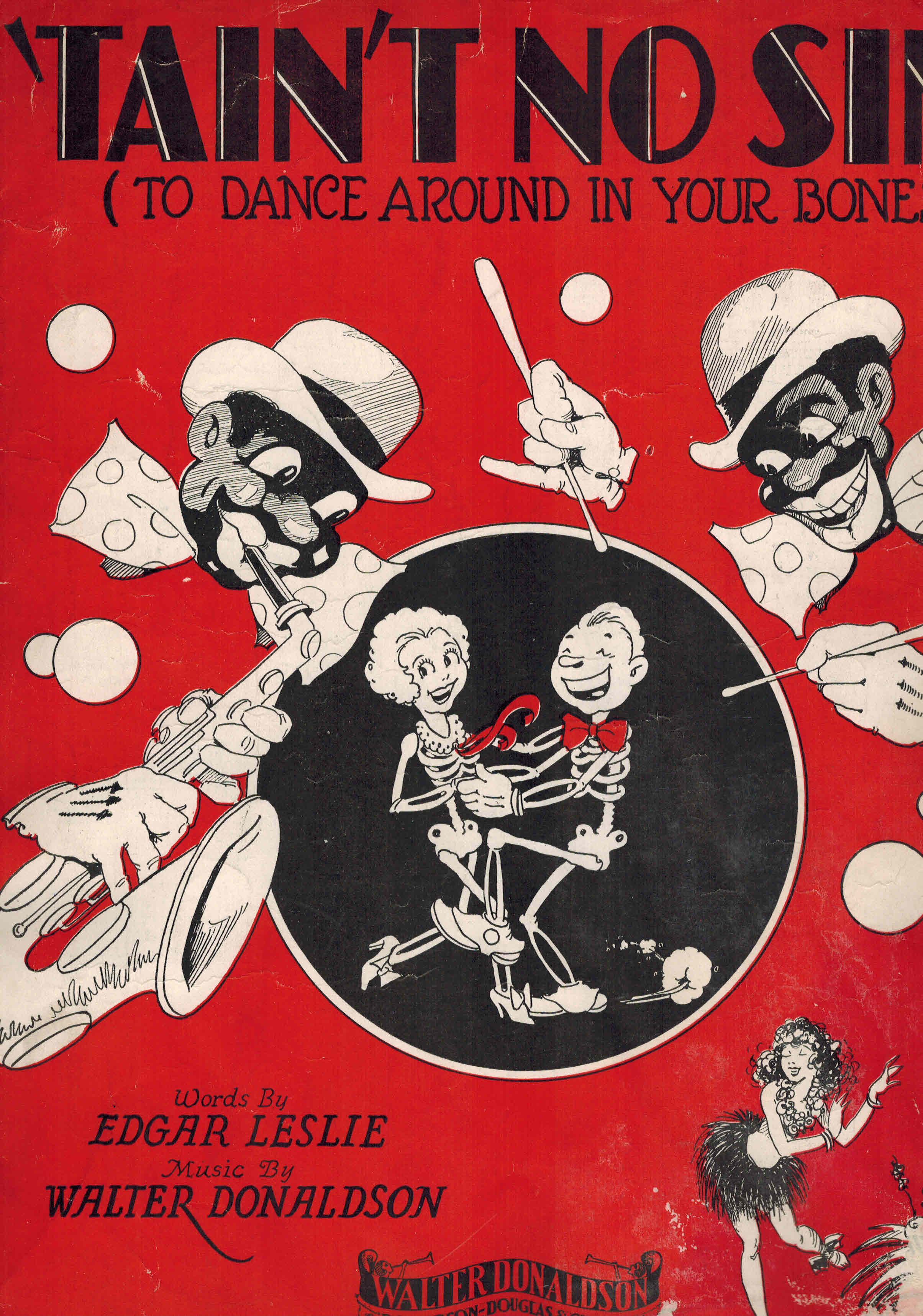 Image for Tain't No Sin to Dance Around in Your Bones - Vintage Sheet Music
