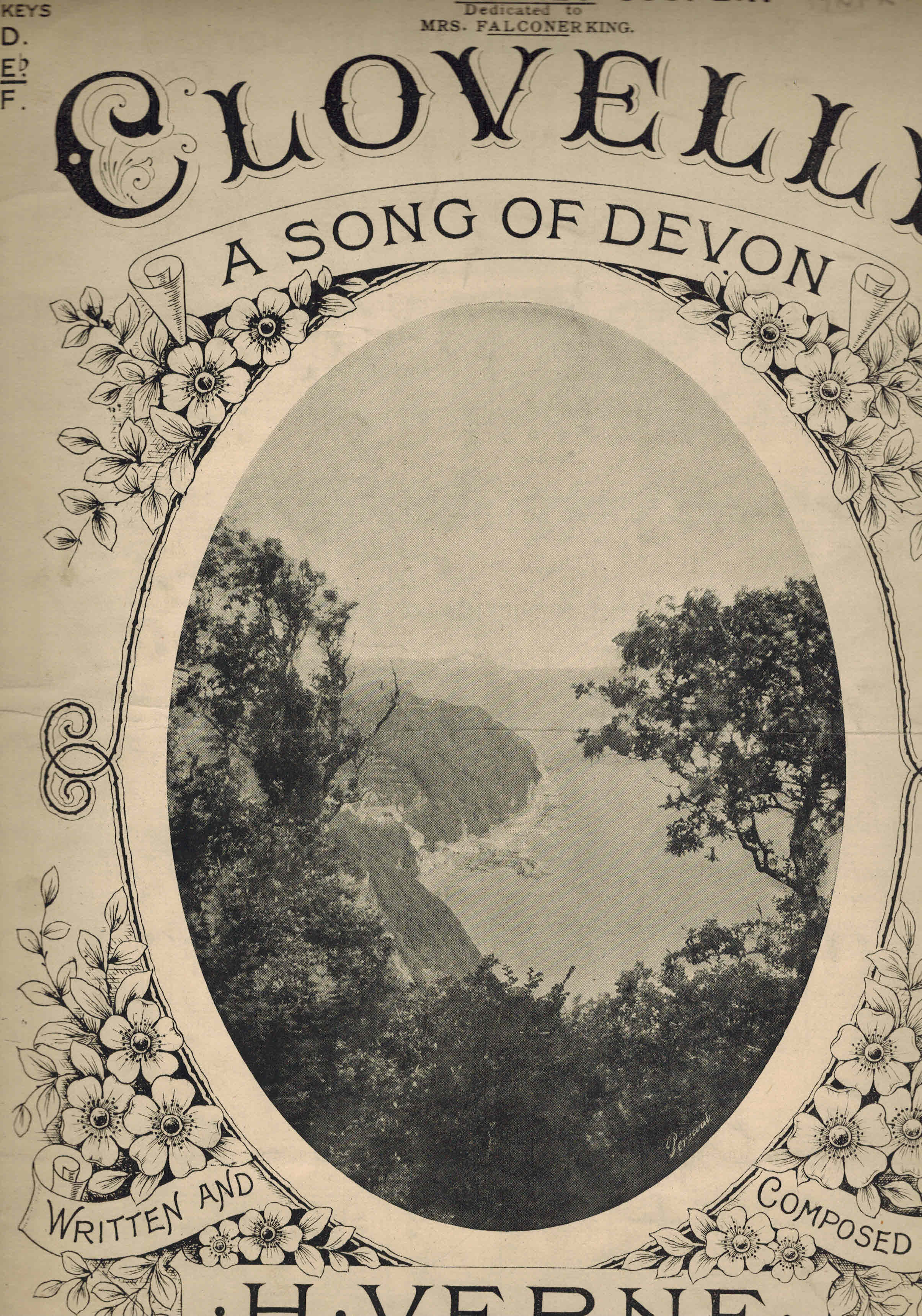Image for Clovelly: A Song of Devon - Vintage Sheet Music